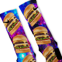 Cheeseburger Galaxy Custom Nike Elite Socks