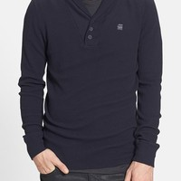 Men's G-Star Raw 'Ezra' Waffle Knit Shawl Collar Thermal
