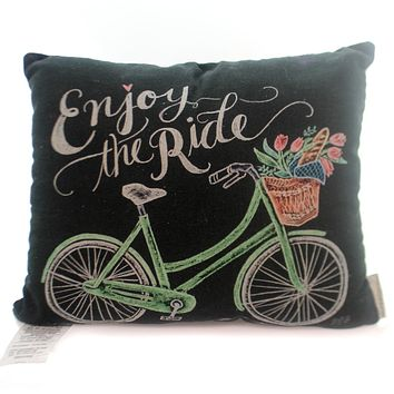 Home Decor Bicycle Chalk Art Pillow Home Decor