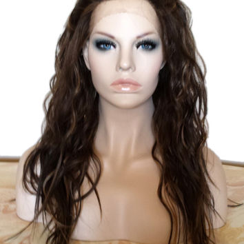 Forever Young Urban Gypsy LACE FRONT Wig (Color Golden Brown Highlights) Natural Hair | Long Wavy Wig | Heat Safe| Fashion Cosplay