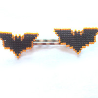 Batman DC Comics Super Hero 8bit jewelry retro jewelry hair pins Handmade handbeaded