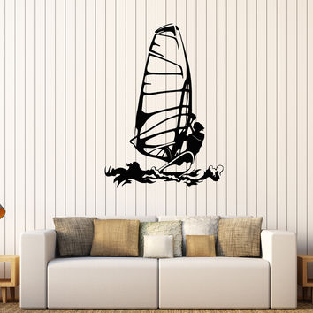 Vinyl Wall Decal Windsurfing Extreme Sports Surfer Stickers Mural Unique Gift (581ig)