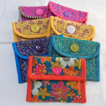 Quilted Coin Purse -  Coin Purse - Small Coin Purse - Makeup Purse - Ladies Coin Purse - Designer Coin Purse - Childrens Coin Purse
