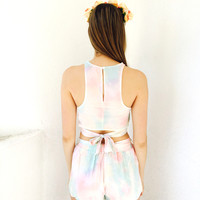 The Colors Came In Waves Top- Pastel {Boutique Collection}