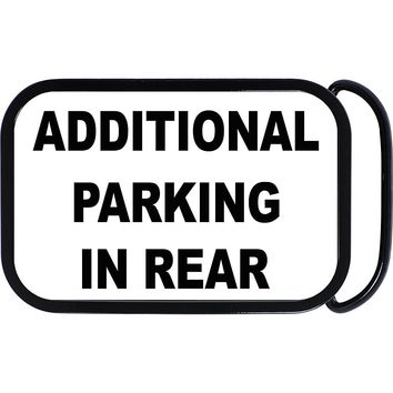 Additional Parking In Rear Belt Buckle