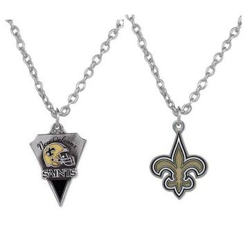 New Orleans Saints Dog Tag Pendant Necklace Zinc Alloy Sporty Style Jewelry with 50cm Chain for Men and Women jewelry