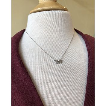 Sterling Silver CZ Shapes Necklace