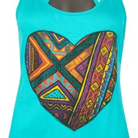 FULL TILT Ethnic Heart Womens Tank