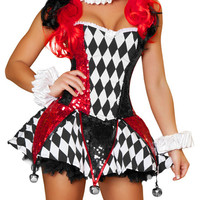 Plaid Court Jester Costume Set