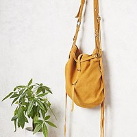 Free People Womens Goldpoint Suede Bag