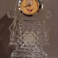 WATERFORD CRYSTAL - DISNEY - COGSWORTH CLOCK - BEAUTY & THE BEAST
