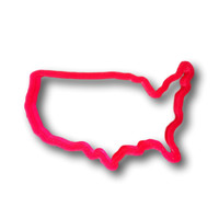 U.S. Map Cookie Cutter