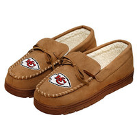 Kansas City Chiefs Official NFL Mens Moccasin Slippers