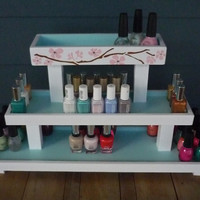 Wood Nail Polish 3 Tier Table Top Rack