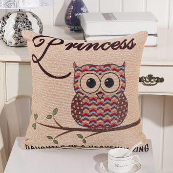 Cartoon Handmade Owl Home Decor Pillow Decorative Throw Pillows Cute Drawing 17