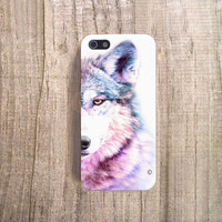 iPhone 5 Case - Wolf iPhone 5 Case, iPhone4s Case, Coque iPhone case, Purple iPhone Case, Watercolor iPhone 4 or 4S Cases, Designer Cases