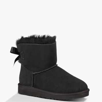 Ugg Mini Bailey Bow Girls Boots Black  In Sizes