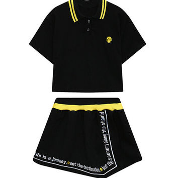 Two-Piece Suit with T-Shirt and Shorts