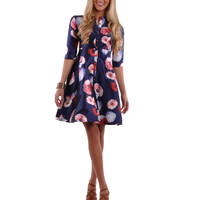 Buttoned Front Slim Trendy Dress # DR-0005