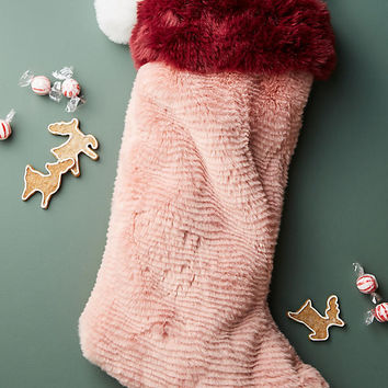 Colorful Faux Fur Stocking