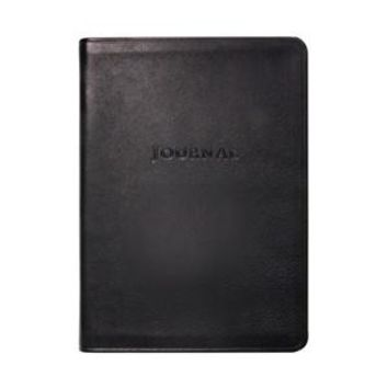 Medium Travel Journal  Traditional Leather -Black