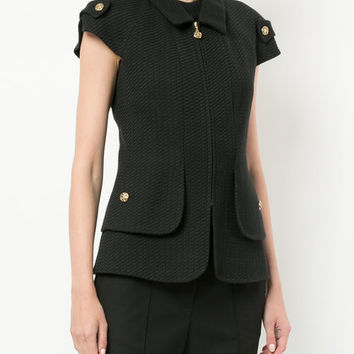 Chanel Vintage Shortsleeved Zipped Textured Jacket - Farfetch