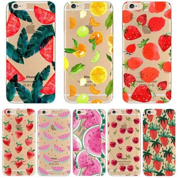 Girllove100  Summer fruit phone case for iphone 4 4s 5 5s 6 6s 6plus 7 7plus (MT01-MT10)