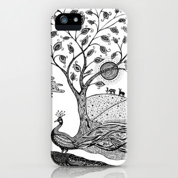 Peacock Fantasy iPhone & iPod Case by Paula Belle Flores