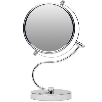 Mirrorvana Cute & Curvy Double-Sided Magnifying Makeup Mirror w/1x 10x Magnification for Vanity Countertop, 6-Inch