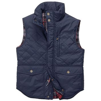 Varsity Vest in Navy by Southern Proper