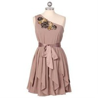 sequins of events asymmetrical dress