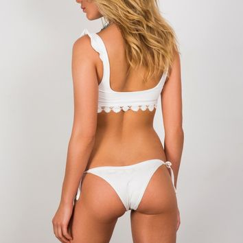Soah Swimwear Hope Tie Sides Bottom - White