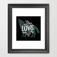 Never leave us Framed Art Print by WEAREYAWN