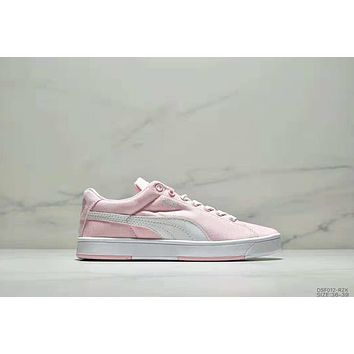 PUMA SUEDE S Classic Campus Style Couple Casual Casual Shoes full pink