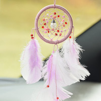 Car Dream catcher, Mini dreamcatcher, Car Charm, Rear View Mirror Charm, Feather Decor, Wall Hanging, Gift for Women