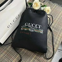 GUCCI Casual School Bag Cowhide Leather Backpack
