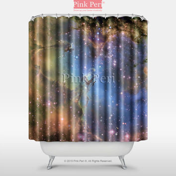 Eagle Nebula Galaxy Shower Curtain Free shipping Home & Living Bathroom 021