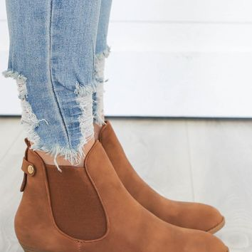 All I Need Booties - Cognac
