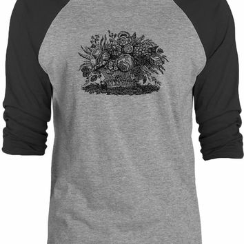 Big Texas Floral Basket 3/4-Sleeve Raglan Baseball T-Shirt