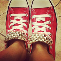 Custom Studded Converse All Star Shoes - ANY COLOR - All Sizes!