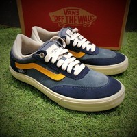 Best Online Sale Vans Gilbert Crockett Pro 2 Navy Blue Yellow White Casual Shoes VN0A38COY28