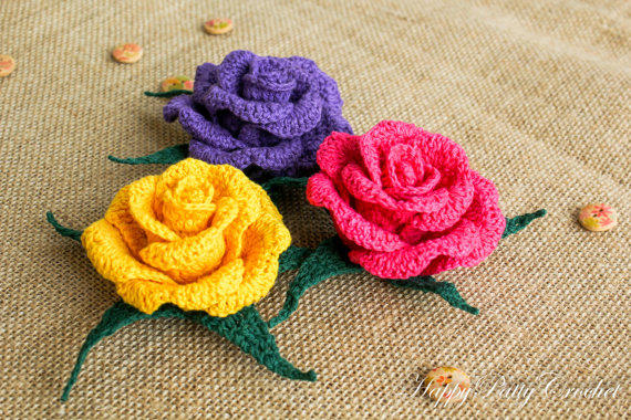 Crochet Rose Pattern and Instructions - from ...