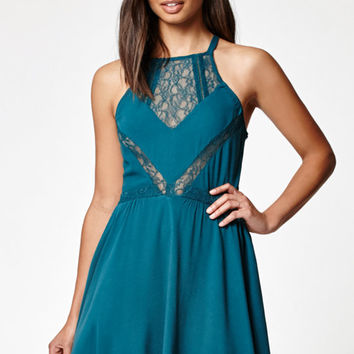 Kendall & Kylie Lace Inset Goddess Neck Dress at PacSun.com