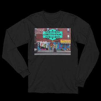 Brooklyn NYC Ghetto Pass Unisex Long Sleeve T-Shirt