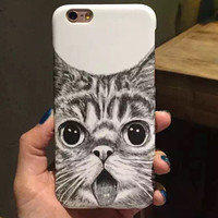 So Cute Cat iPhone 7 5s 5se 6 6s Plus Case Superior Quality New Nano-materials Cover + Free Gift Box  376