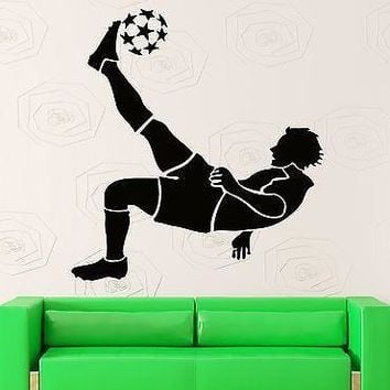Wall Stickers Vinyl Decal FIFA Soccer Ball Player Sport Decor for Room Unique Gift (ig1012)