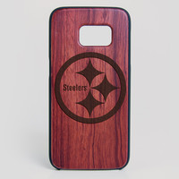 Pittsburgh Steelers Galaxy S7 Edge Case - All Wood Everything