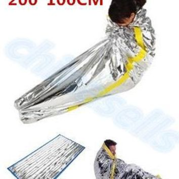 first aid Outdoor life-saving deal Portable Waterproof Reusable Emergency Rescue Foil Camping Survival Sleeping Bag 200*100CM