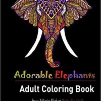 Elephant Adult Coloring Book