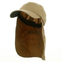 UV 45+ Zipper Flap Hats-Khaki W15S44C $19.95